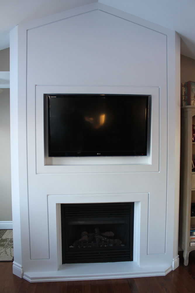 Fireplace Design fireplace cement : Fireplace with a more simple appearance - Bernie Mitchell