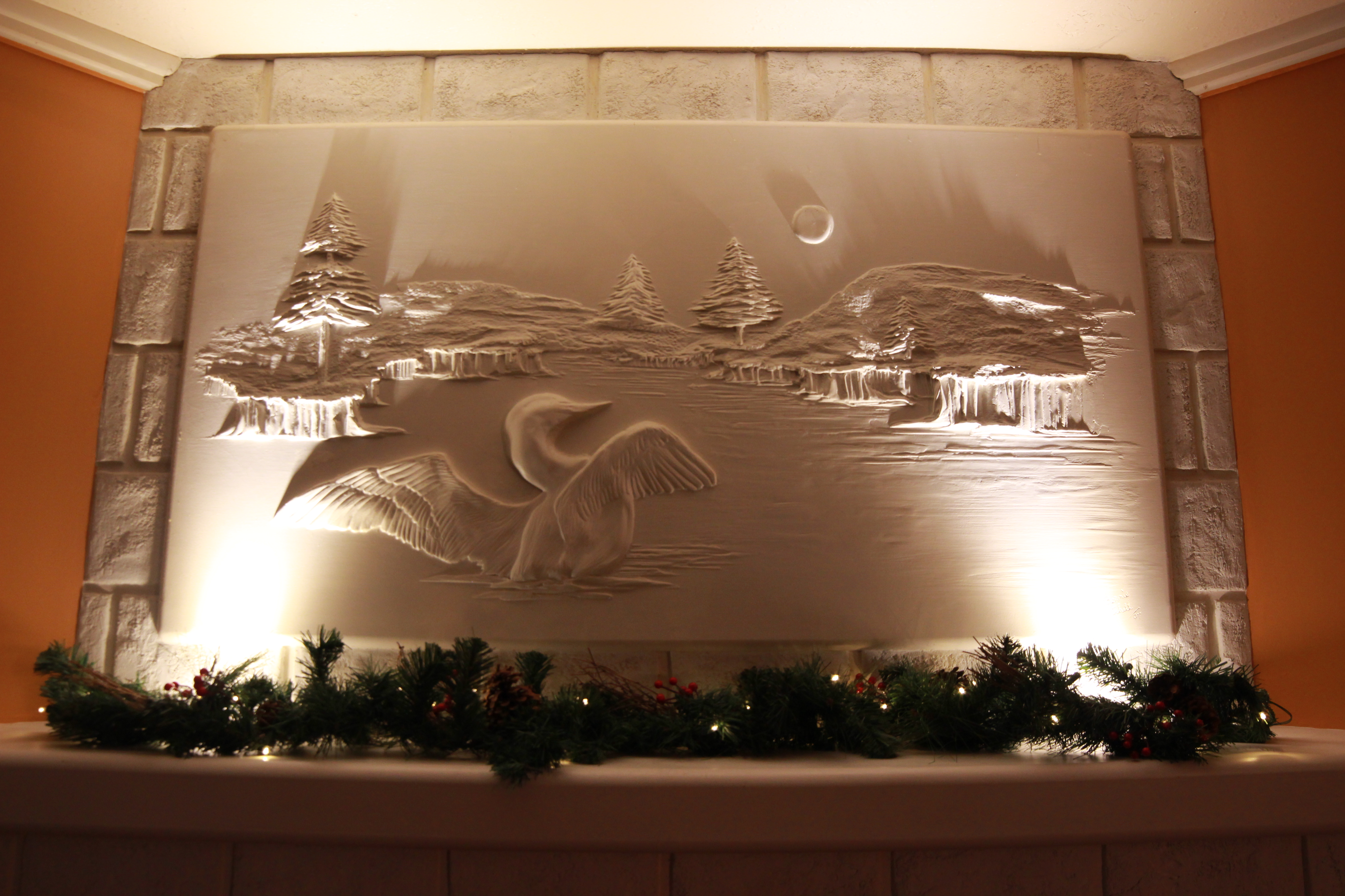 fireplace artwork bernie mitchell